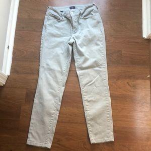 Light grey NYDJ stretchy ankle jeans